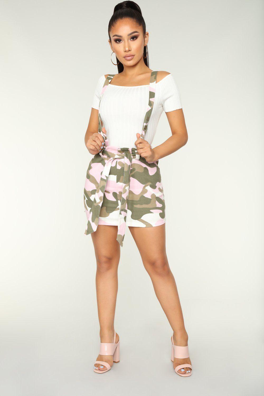 d8331c69acb3 Zariah Suspender Skirt - Pink | Fashion Nova | Suspender skirt, Camo ...