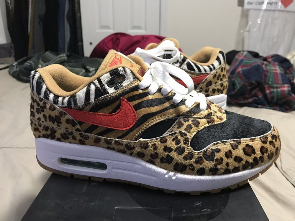 best sneakers 6d7f4 76068 eBay  Sponsored Rare Atmos x Nike Air Max 1 animal pack Retro V2 Size 8