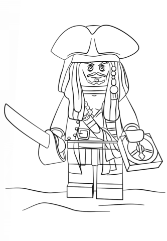 Klocki Lego Jack Sparrow Kolorowanka Lego Coloring Pages Lego Coloring Pirate Coloring Pages