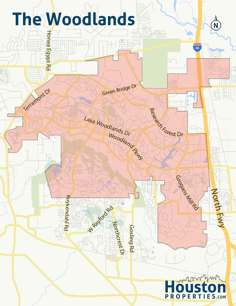 The Woodlands Houston Neighborhood Map Great Maps Of Houston
