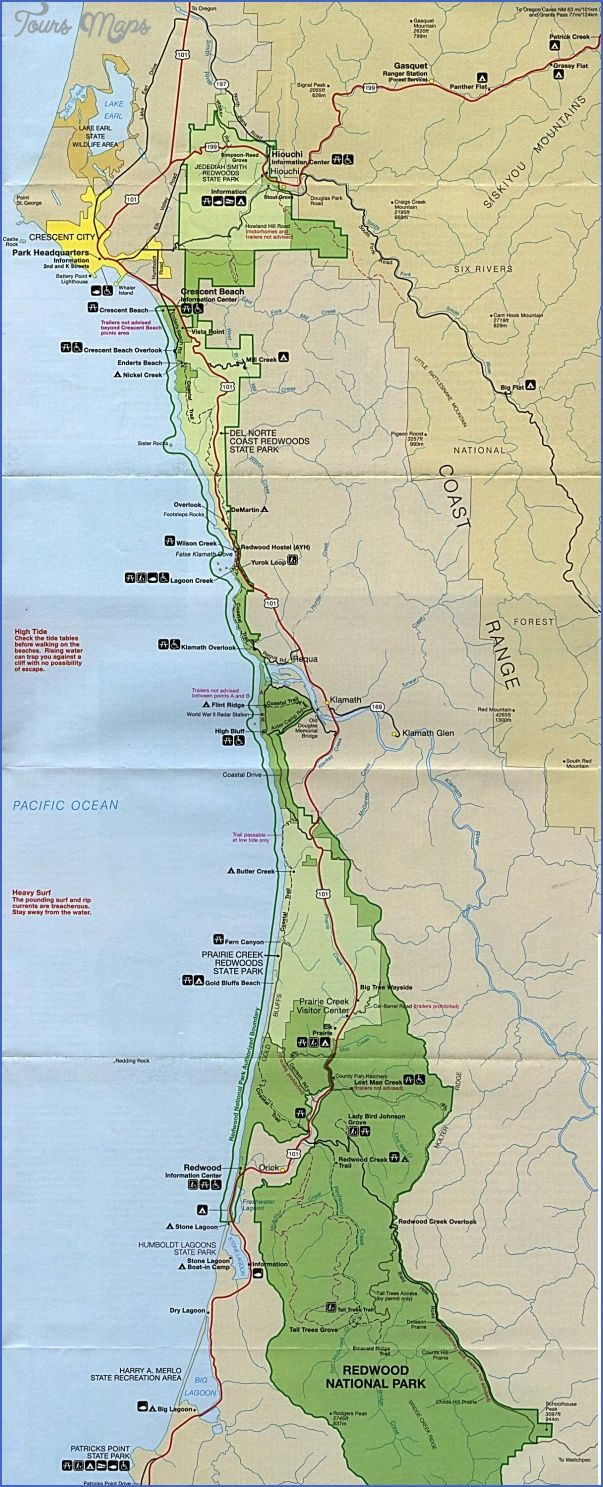 Cool redwood national park map california tours maps pinterest cool redwood national park map california publicscrutiny Image collections