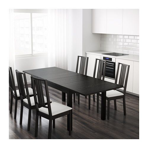 Inexpensive Ikea Table That Extends To Seat 8 10 People Extendable Dining Table Apartment Furniture Dining Table