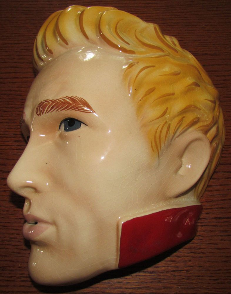 Vintage James Dean Ceramic Mask Clay Art Very Rare!! | Ceramic Masks ...