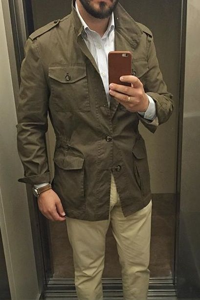 7cdef50d60f2 Safari style - field jacket and khakis | Style in 2019 | Mens ...