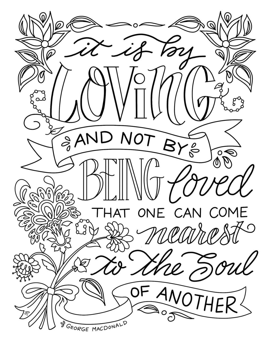 It Is By Loving George Macdonald Inspirational Quote Etsy In 2021 Inspirational Quotes Coloring George Macdonald Quote Coloring Pages