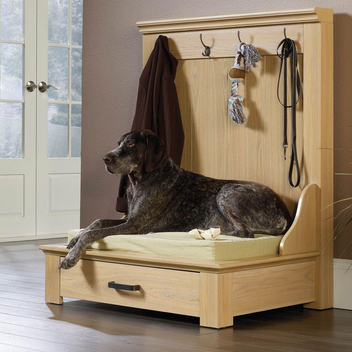 Sauder Pet Home Entryway Dog Bed Beds More Shop The Exchange Dog Bed Cushion Dog Bed Pet Furniture