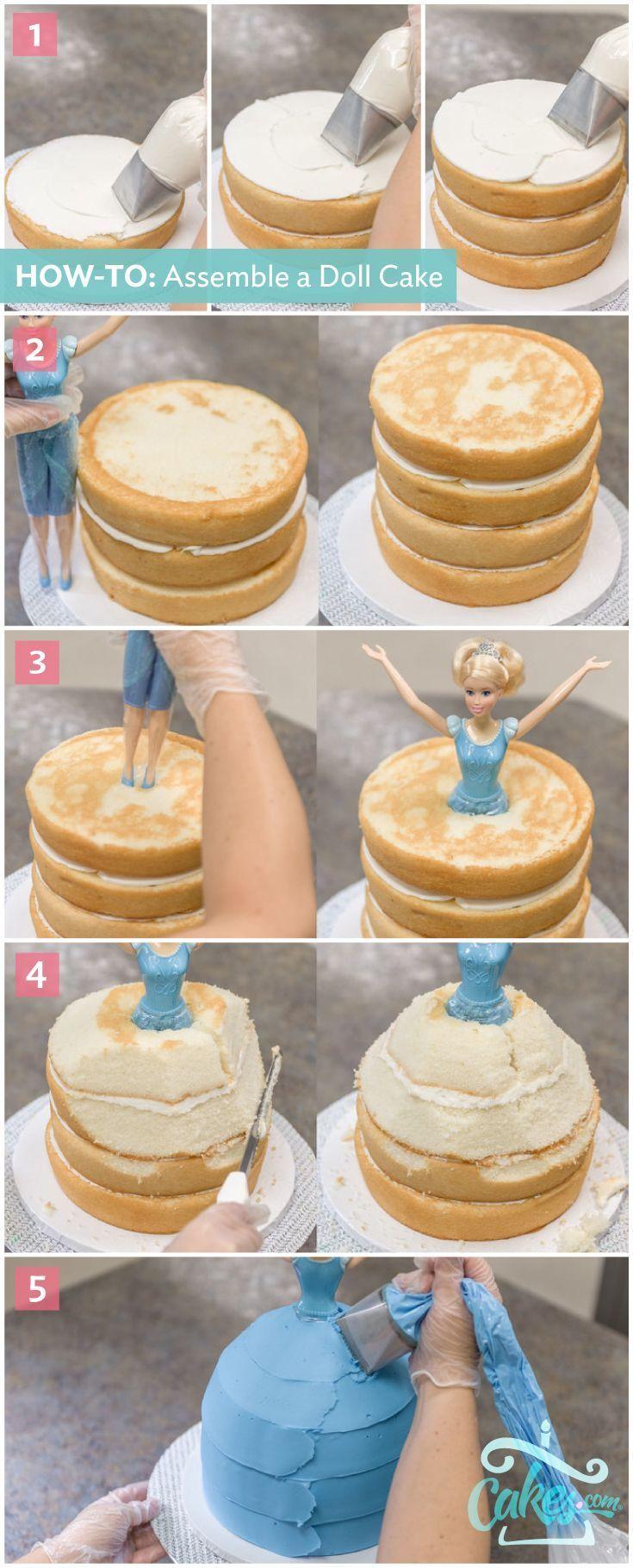 How To Make A Disney Princess Cinderella Doll Cake