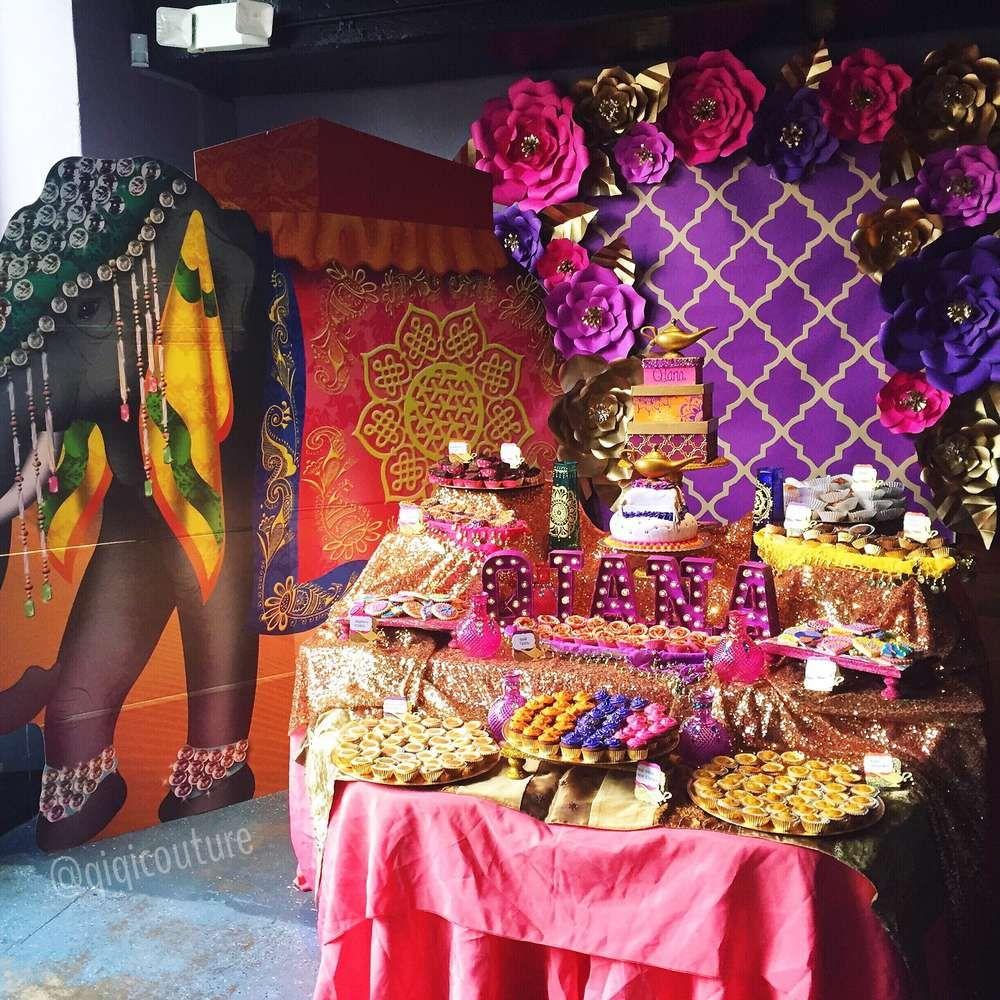 Arabian Nights Birthday Party Ideas Flower Birthday