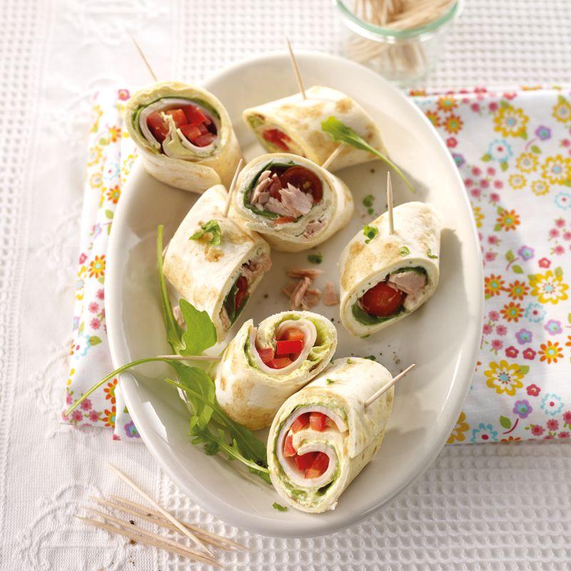Mini-Wrap-Spieße mit Thunfisch und Geflügel Rezept | WW Deutschland #wrapshapjes