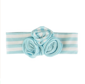Sky Blue Striped Emily Headband