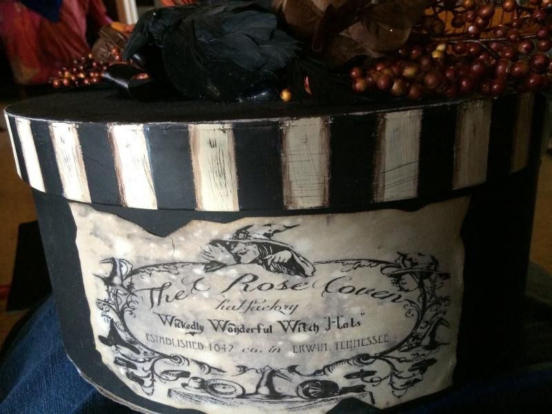 Witch Hat Hatbox! Halloween Pinterest Halloween pictures - martha stewart outdoor halloween decorations