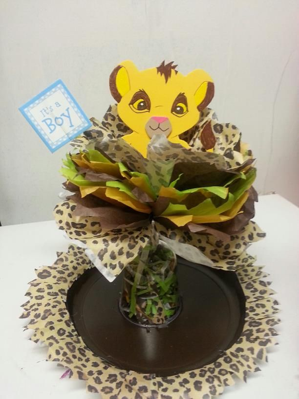 Disney Lion King Baby Shower Centerpieces Simba Figure Drawn And