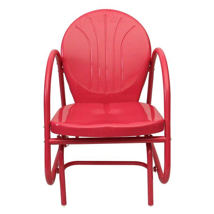 Vintage Retro Metal Chair Weatherproof Furniture Single Seating Indoor Outdoor