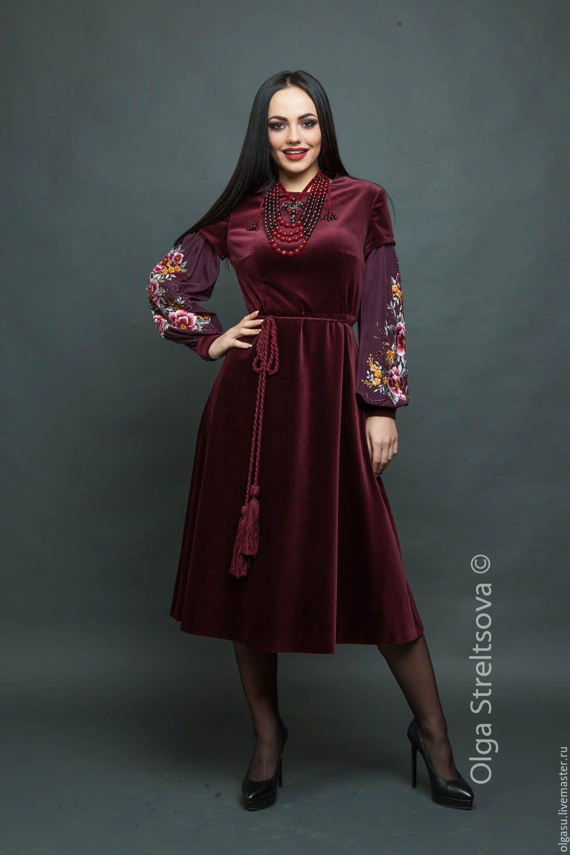 204e1a247cf Купить Вышитое вечернее платье