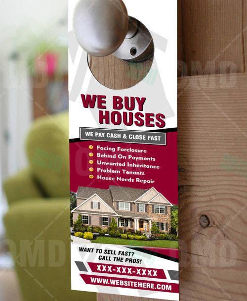 We Buy Houses Door Hanger 5 We Buy Houses Home Buying Real Estate Ads
