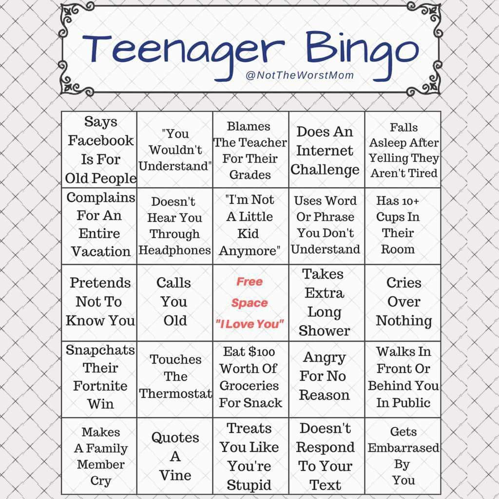 Teenager Bingo Work Quotes Funny Couple Quotes Funny Funny Boyfriend Memes