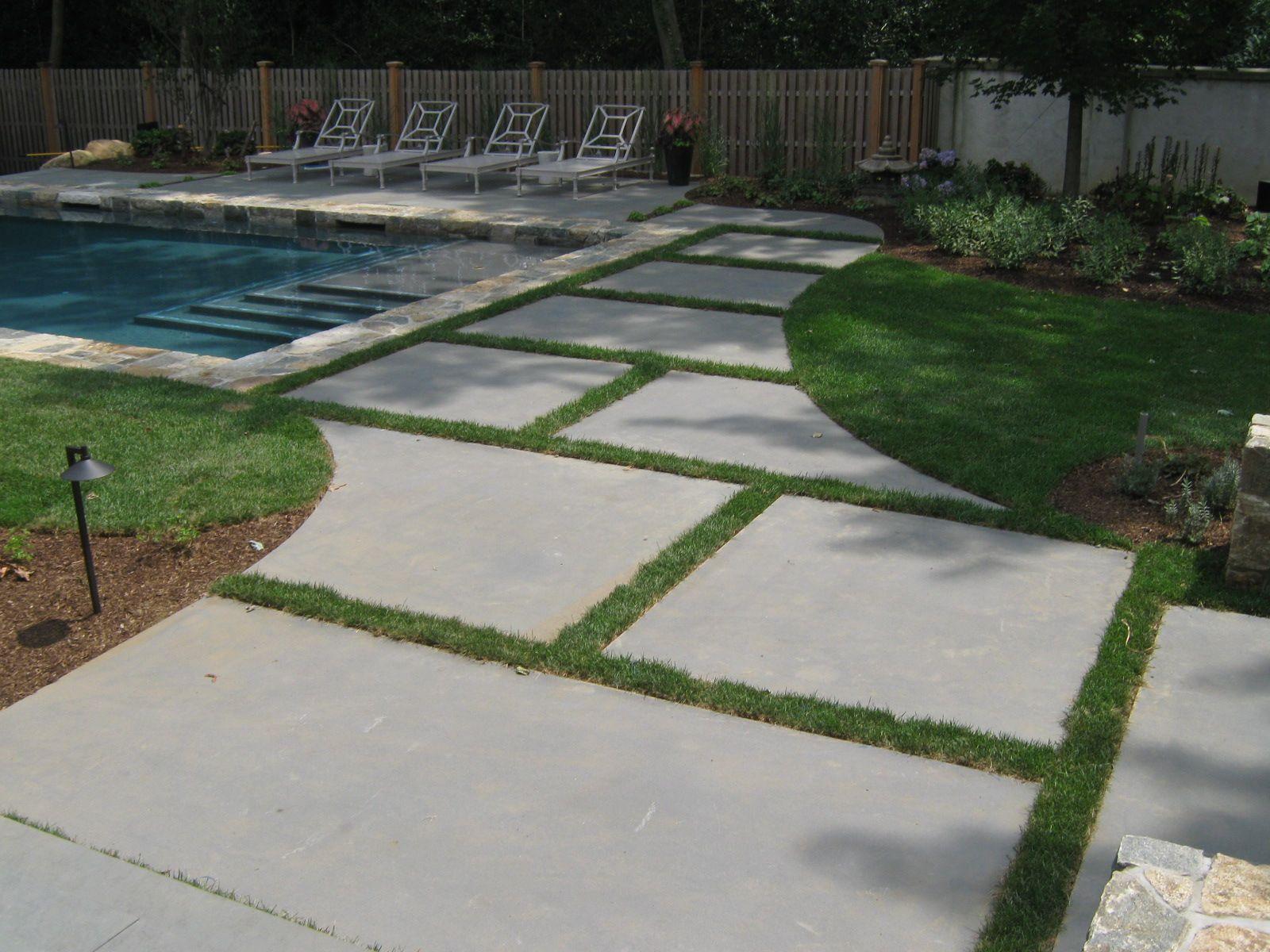 bluestone slabs radial cut pool pinterest paver designs