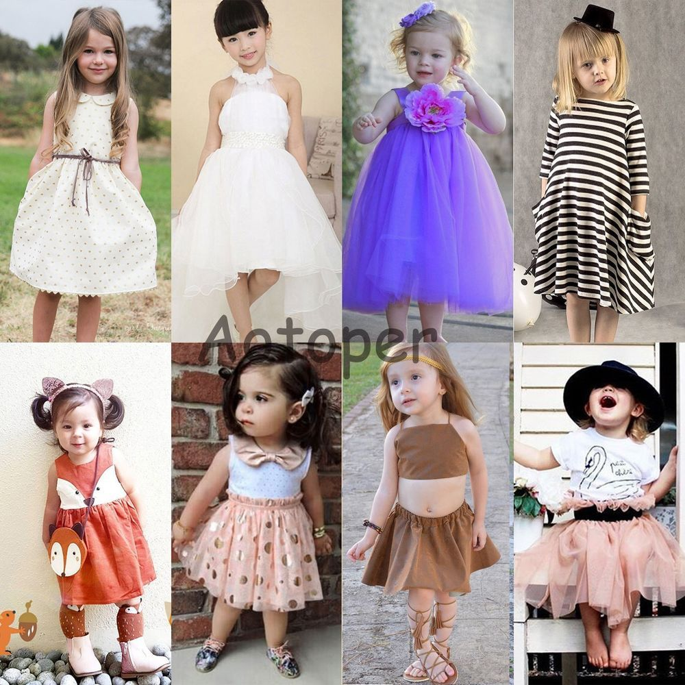 Flower Girl Summer Princess Dress Kid Party Pageant Wedding Tutu ...