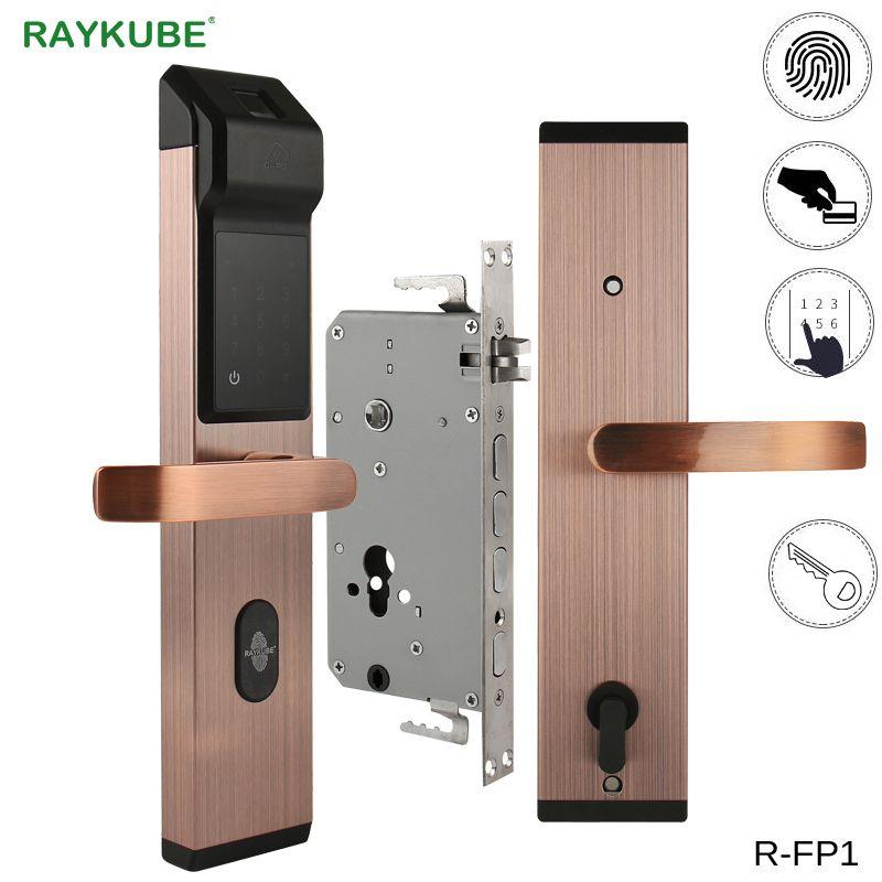 Raykube Biometrische Vingerafdruk Digitale Lock Intelligente Elektronische Deurslot Met Vingerafdruk Verificatie Wachtwoord Rfid R Fp1 Security System Design Electronic Door Locks Home Security Systems