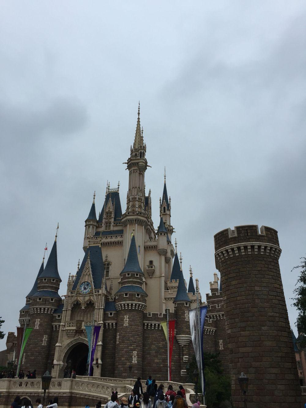 Tokyo Disneyland on a rainy day