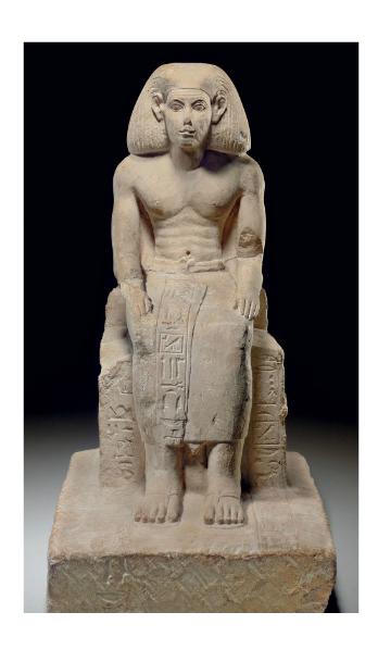 AN EGYPTIAN FRAGMENTARY LIMESTONE FIGURE OF KHETY MIDDLE KINGDOM, DYNASTY XI-XIV, 2040-1640 B.C. | Christie's