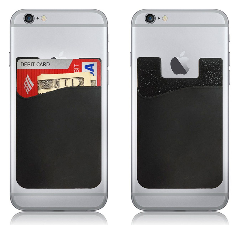 best service 6da7b 5a4b0 Silicone Mobile Phone Credit Card Wallet Holder Pocket Stick-On ...