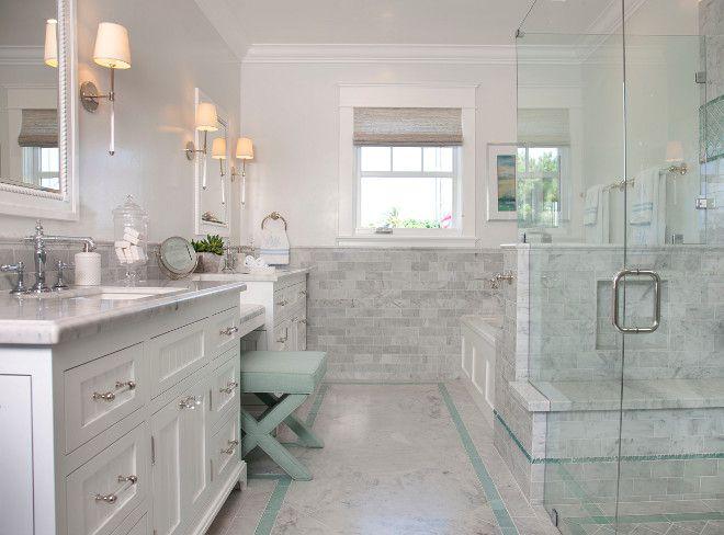 Master Bath Tiling Master Bath Tiles The Master Bathroom Offers A Great Layout Beach House Bathroom House Bathroom White Master Bathroom