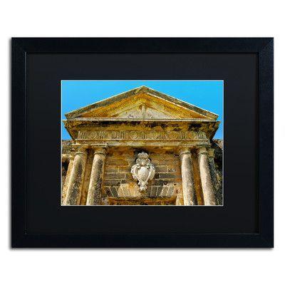 "Trademark Art ""Castillo San Felipe del Morro 7"" by CATeyes Framed Photographic Print Size: 16"" H x 20"" W x 0.5"" D"