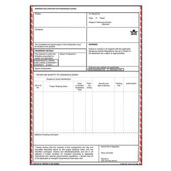 Shopfta Iata Shipper S Declaration For Dangerous Goods Dangerous Goods Declaration Sample Resume