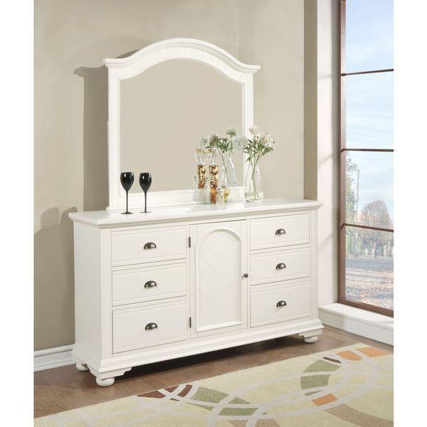 Best Picket House Furnishings Addison White Dresser Mirror 400 x 300