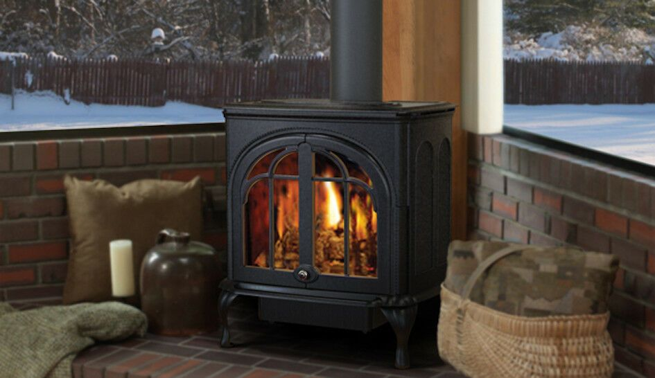 Shown On Display At A Trade Show Mint Condition Never Used Ironstrike Serefina Direct Vent Stove Natural Gas Stove Natural Gas Space Heaters Cast Iron Stove