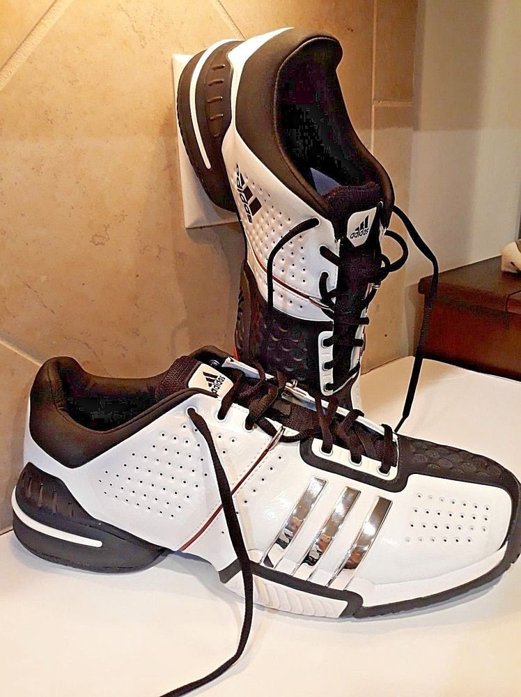 pretty nice c113d 33ff0 Adidas Barricade RARE Men s Tennis Basketball Shoes Black White   METAL Reg   249  Adidas