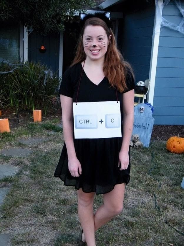 Copy cat | 19 Hilariously Clever Halloween Costumes  sc 1 st  Pinterest & Copy cat: | Clever halloween costumes Copy cats and Halloween costumes