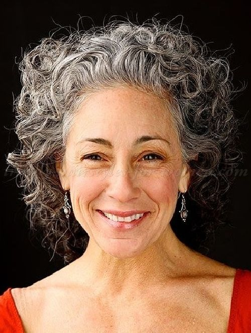 Curly Medium Length Hairstyle For Women Over 50 V B Jpg 500 662 Grey Curly Hair Curly Hair Styles Short Curly Hair