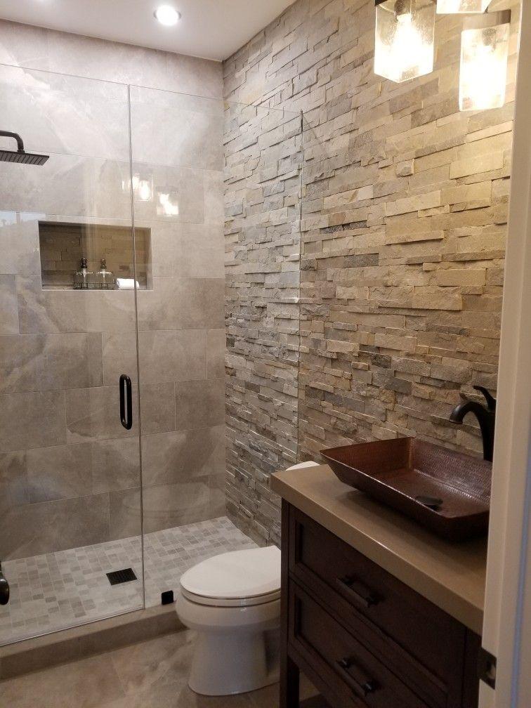 Ledger Stone Shower Wall Stone Shower Walls Stone Shower
