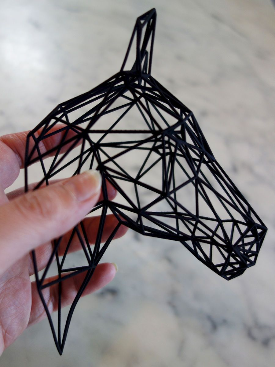 """Equus"" descorative wireframe structure by SOONSALON"
