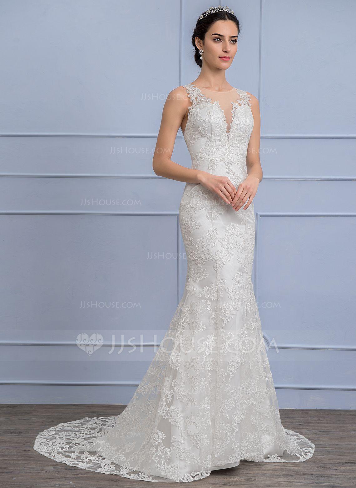 Us 262 00 Trumpet Mermaid Scoop Neck Court Train Lace Wedding Dress Jj S House Online Wedding Dress Wedding Dresses Lace Affordable Wedding Dresses [ 1562 x 1140 Pixel ]