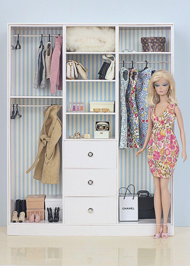 Armario Organizador Plastico ~ Barbie ropa y accesorios Armario de Barbie Y3354 muñecas hermosas Pinterest Las ventas