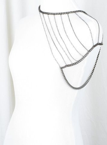 Heres A Body Chain That Drapes Over One Shoulder Adjustable Neck