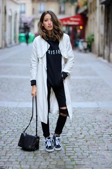 50 Foolproof Black and White Outfits | Fashion, Casual