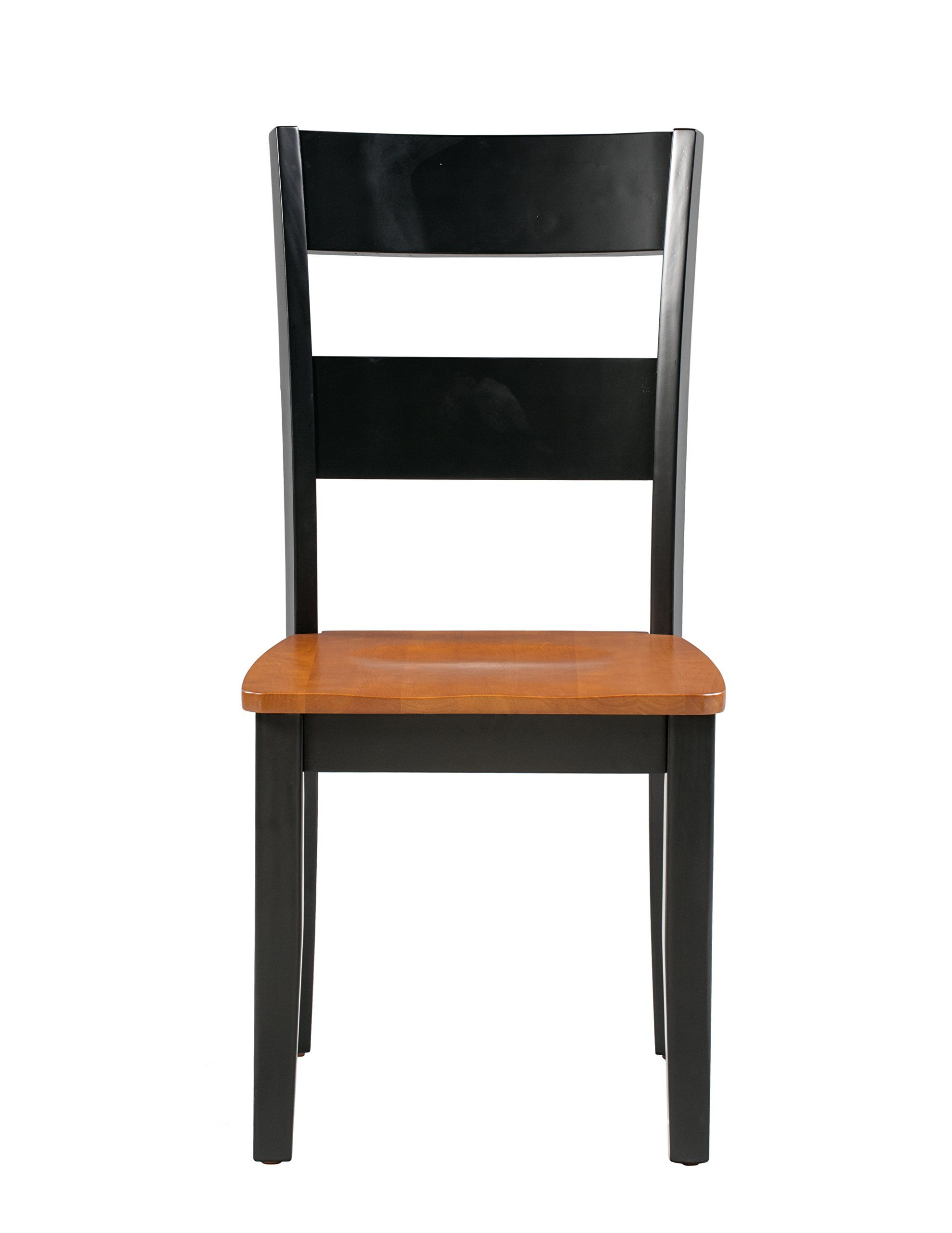 Trithi Furniture Fullerton Solid Wood Black Kitchen And Dining Chair With Cherry Seat Set Of 2 See Thi Dining Chairs Black Kitchens Kitchen Dining Chairs