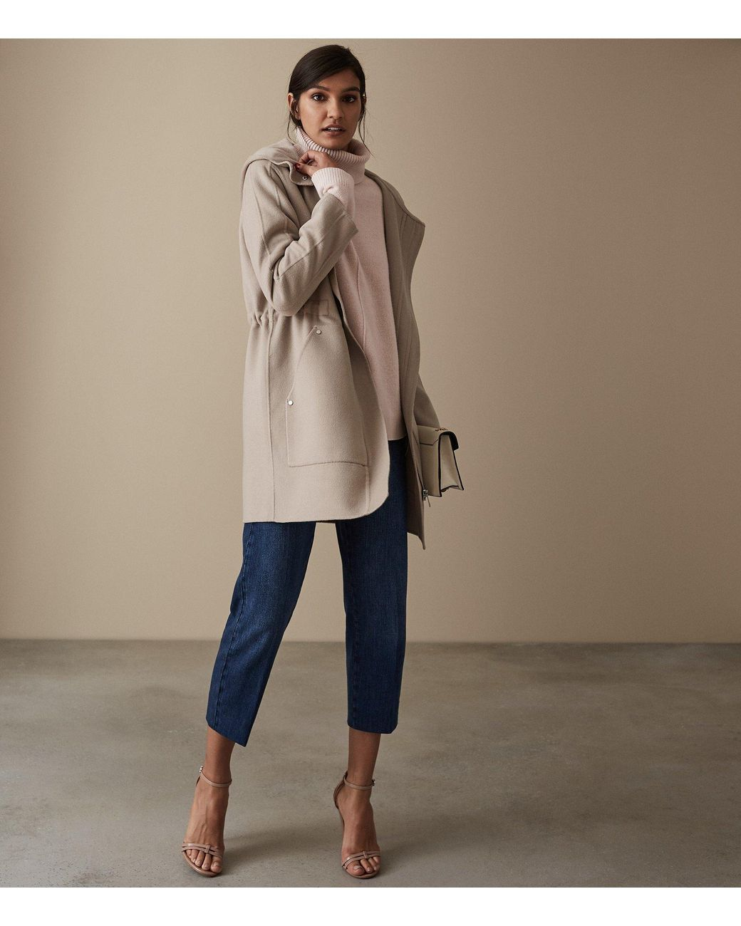 33bb4f4832a4 Women's Natural Delaney - Wool Blend Hooded Coat | Beily's Topper ...