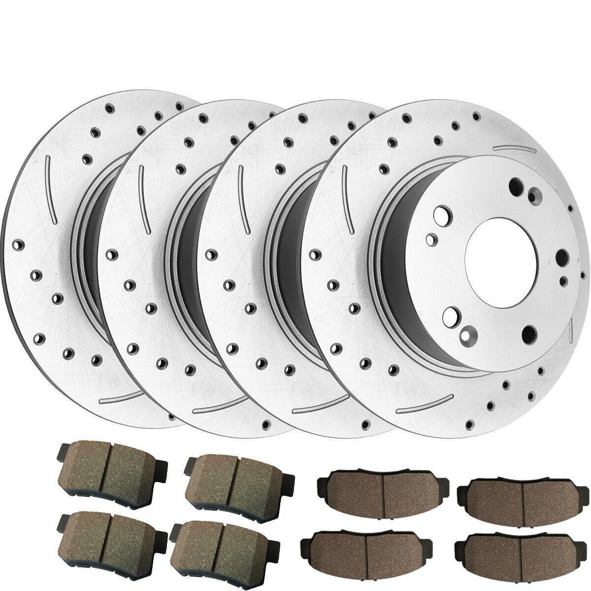 (Sponsored EBay) 1 Set Front & Rear Brake Rotors+Ceramic