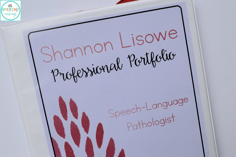 Portfolios for Speech Language Pathology Interviews (and