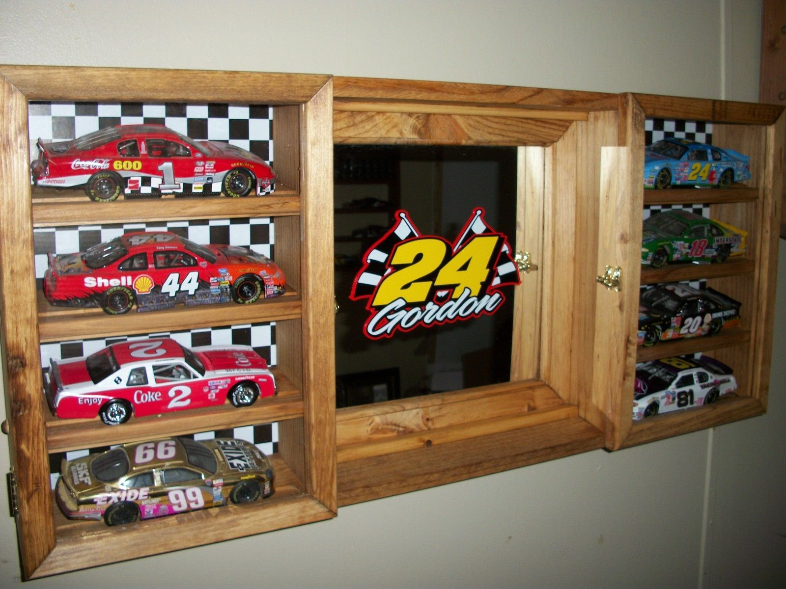 Jeff Gordon 1 24 Scale Die Cast Display Cabinet NASCAR with Mirror Holds 8 New | eBay : nascar display cabinets - Cheerinfomania.Com