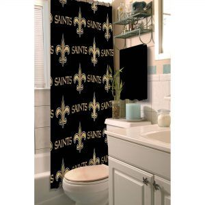 Saints Football Shower Curtain With Images Fabric Shower