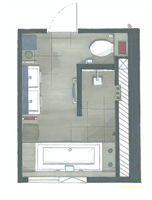 Grundriss Badezimmer 12qm Die Besten 25 Bad Grundriss Ideen Auf