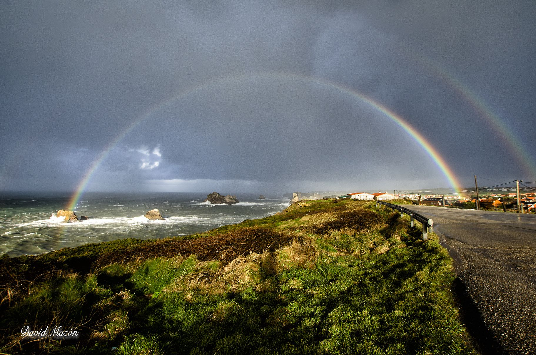 Arco Iris Costa Quebrada - Rainbow in Costa Quebrada in a really rainy day #Cantabria #Spain