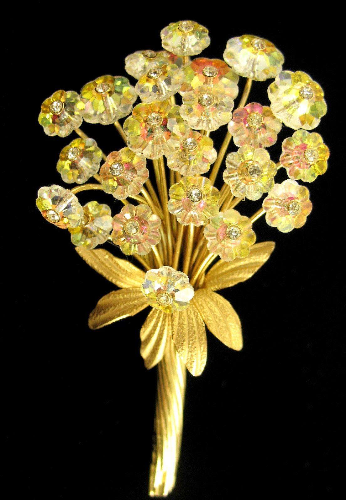 Vintage Vendome Margarita Rivoli Flower Bouquet Brooch | Jewels ...