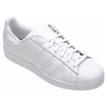 7cc92c0730c4c Tênis Couro Adidas Superstar Foundation Masculino   Adidas star ...